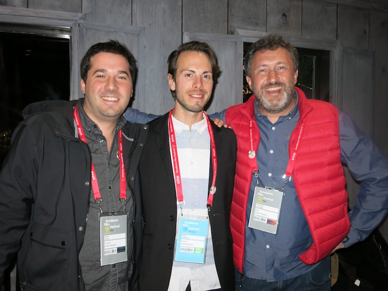 From Left to Right: Adam Gibbs (Producer), Bryan Carberry (Director, Producer, Editor) and Tchavdar Georgiev (Editor) of FINDERS KEEPERS.