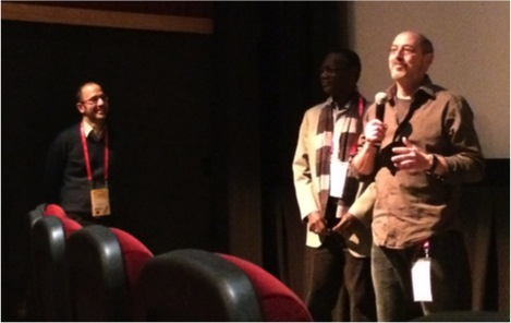 Directors Jason Silverman and Samba Gadjigo at the Q&A for SEMBENE!